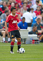 July 16, 2010 Fabio Da Silva No. 20 of Manchester United during an international friendly between Manchester United and Celtic FC at the Rogers Centre in Toronto.