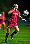 19 September 2010: Colgate University Raider defender/forward Danielle Wessler, a Junior from Port Republic, NJ, in action against the University of Vermont Catamounts at Centennial Field in Burlington, Vermont. The Raiders scored a pair of second half goals two minutes apart to notch a 2-0 victory over the Lady Cats in non-conference women's soccer play. Mandatory Credit: Ed Wolfstein Photo