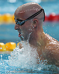 Benoit Huot of Montreal swims to the bronze medal in men's 200 metre individual medley, class SM10, at the swimming finals at the Paralympic Games in Beijing, Thursday, Sept., 11, 2008.   CPC-Mike Ridewood