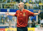 Fussball  International  FIFA  FUTSAL WM 2008   19.10.2008 Finale Brasil - Spain Brasilien - Spanien JAVI ESEVERRI (ESP) gestikuliert.