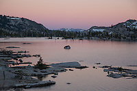 """Lake Aloha Sunset 3"" - Photograph at sunset of Lake Aloha located in the Tahoe Desolation Wilderness."
