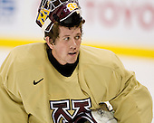 Alex Kangas (Minnesota 33) takes part in the Gophers' morning skate at the Xcel Energy Center in St. Paul, Minnesota, on Friday, October 12, 2007, during the Ice Breaker Invitational.