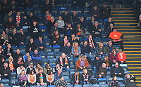 Blackpool fans watch the match<br /> <br /> Photographer Kevin Barnes/CameraSport<br /> <br /> The EFL Sky Bet League Two - Wycombe Wanderers v Blackpool - Saturday 11th March 2017 - Adams Park - Wycombe<br /> <br /> World Copyright &copy; 2017 CameraSport. All rights reserved. 43 Linden Ave. Countesthorpe. Leicester. England. LE8 5PG - Tel: +44 (0) 116 277 4147 - admin@camerasport.com - www.camerasport.com