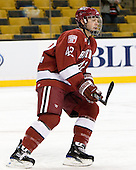 Brendan Rempel (Harvard - 42) - The Northeastern University Huskies defeated the Harvard University Crimson 4-1 (EN) on Monday, February 8, 2010, at the TD Garden in Boston, Massachusetts, in the 2010 Beanpot consolation game.
