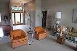 Elegant living room, Sanford Lake, Michigan, MI, USA