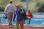 Oxford High track coach Scott Kendricks at the Oxford Eagle Invitational at Oxford High School in Oxford, Miss. on Monday, March 28, 2011.  Oxford High won the meet.