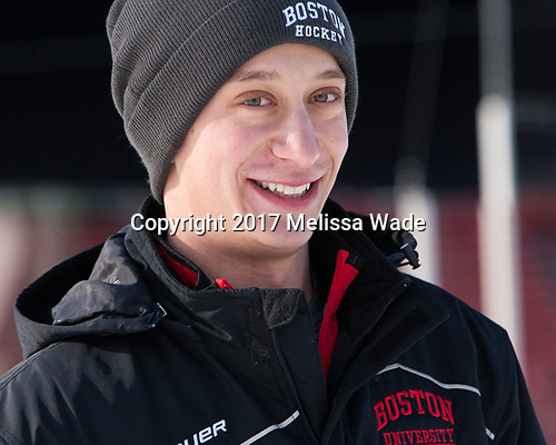 Joseph Meyers - The Boston University Terriers practiced on the rink at Fenway Park on Friday, January 6, 2017.The Boston University Terriers practiced on the rink at Fenway Park on Friday, January 6, 2017.