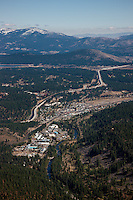 """Truckee Aerial 2"" - Photograph of Truckee, California. Shot from an aerial seaplane with the door removed."