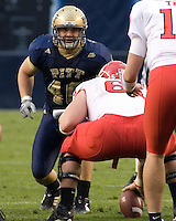 October 25, 2008: Pitt linebacker Scott McKillop (40). The Rutgers Scarlet Knights defeated the Pitt Panthers 54-34 on October 25, 2008 at Heinz Field, Pittsburgh, Pennsylvania.