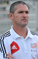 New England Head Coach Jay Heaps. D.C. United defeated the The New England Revolution 3-1 in the Quarterfinals of Lamar Hunt U.S. Open Cup, at the Maryland SoccerPlex, Tuesday June 26 , 2013.