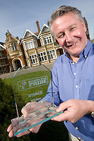 "Tommy Walsh at WWII code-breaking HQ Bletchley Park near Milton Keynes, which won the Wickes ""Building With Pride"" award."