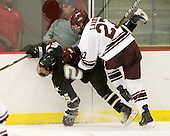 Thomas Larkin (Colgate - 27) deals with Cheyne Rocha (Army - 25). - The host Colgate University Raiders defeated the Army Black Knights 3-1 in the first Cape Cod Classic at the Hyannis Youth and Community Center in Hyannis, MA.