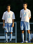 2 September 2007: North Carolina's Joan Carvajal (10) and Brian Shriver (31). The University of North Carolina Tar Heels tied the Old Dominion University Monarchs 1-1 at Fetzer Field in Chapel Hill, North Carolina in an NCAA Division I Men's Soccer game.