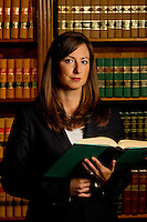 Tonya Graser Smith an attorney at Arnold & Smith, PLLC an aggressive civil and criminal litigation firm located in the heart of Charlotte, North Carolina. ..Photo by: PatrickSchneiderPhoto.com