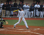 Ole Miss' Auston Bousfield (9) bats vs. Arkansas-Pine Bluff at Oxford-University Stadium in Oxford, Miss. on Wednesday, February 27, 2013.
