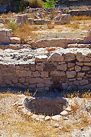 Remains of storage pits & pots at the  Apollo Smintheion Sanctuary near Gulpinar Village Turkey.