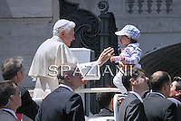 Pope Benedict XVI during his weekly general audience in St. Peter square at the Vatican, Wednesday. 18 May, 2011