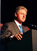 United States President Bill Clinton spoke to the joint meeting of the International Monetary Fund and the World Bank in Washington, D.C. on September 29, 1999.  Clinton announced that the U.S. Government will forgive 100 percent of the debt owed to the U.S. by the world's poorest countries provided the money be spent on providing basic human needs..Credit: Ron Sachs / CNP