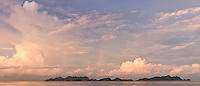 Panorama of sunset clouds, Misool, West Papua, Indonesia