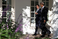 US President Barack Obama (R) and Italian Prime Minister Matteo Renzi (L) talk as the walk to the Oval Office after an official arrival ceremony on the South Lawn of the White House in Washington DC, USA, 18 October 2016. Later today President Obama and First Lady Michelle Obama will host their final state dinner featuring celebrity chef Mario Batali and singer Gwen Stefani performing after dinner. <br /> Credit: Shawn Thew / Pool via CNP /MediaPunch