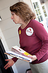 Los Altos city council candidate, Jan Pepper canvasses a local neighborhood in preparation for the Nov. 6 election.