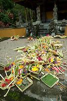 Temple offerings, Gunung Kawi, Bali