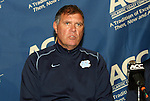 10 November 2010: UNC head coach Elmar Bolowich. The University of North Carolina Tar Heels defeated the North Carolina State University Wolfpack 4-0 at Koka Booth Stadium at WakeMed Soccer Park in Cary, North Carolina in an ACC Men's Soccer Tournament Quarterfinal game.