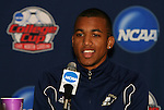12 December 2009: Teal Bunbury. The University of Akron Zips held a press conference at WakeMed Soccer Stadium in Cary, North Carolina on the day before playing Virginia in the NCAA Division I Men's College Cup championship game.