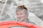 Onboard with Kito de Pavant, on his Guillaume Verdier in conjunction with Van Pétéghem Lauriot-Prévost team: the Open 60 Groupe Bel, a radical design, favouring streamlined entry into the water and a lightweight approach rather than power..