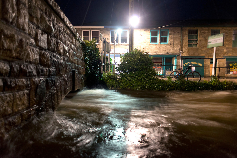 On March 21st 2013 at around 8pm, the River Coombe in Newlyn, Cornwall burst its banks. Fire crews from St Ives, Penzance and  and St Just were on the scene to put road closures in place. Earlier that day, authorities issued many flood warnings across Cornwall and the South West.