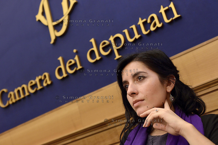 Roma, 3 Marzo 2015.<br /> Fabiana Dadone.<br /> Il Movimento 5 Stelle presenta alla stampa la proposta di riforma della RAI.