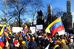Venezuela immingratns protest against Nicolas Maduro in Central Park in New York