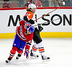 7 December 2009: Philadelphia Flyers' left wing forward Scott Hartnell (19) in action against the Montreal Canadiens at the Bell Centre in Montreal, Quebec, Canada. The Canadiens defeated the Flyers 3-1. Mandatory Credit: Ed Wolfstein Photo