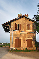 The abandoned Pommard train station. The village. Pommard, Cote de Beaune, d'Or, Burgundy, France