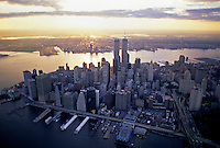 Aerial view of New York City, Lower Manhattan, New York CIty, New York, USA