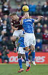 Hearts v St Johnstone&hellip;19.03.16  Tynecastle, Edinburgh<br />David Wotherspoon and Gavin Reilly<br />Picture by Graeme Hart.<br />Copyright Perthshire Picture Agency<br />Tel: 01738 623350  Mobile: 07990 594431