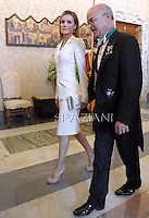 queen letizia of spain.Pope Francis with Spain's King Felipe VI  and Queen Letizia  during a private audience at the Vatican on June 30, 2014.