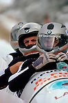 20 November 2005: Mihails Arhipovs, pilot of the Latvia 1 sled, crosses the finish line for a 15th place finish at the 2005 FIBT AIT World Cup Men's 4-Man Bobsleigh Tour at the Verizon Sports Complex, in Lake Placid, NY. Mandatory Photo Credit: Ed Wolfstein.