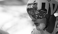 scarred Laurent Pichon (FRA) at the start