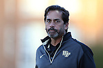 09 October 2014: Wake Forest head coach Tony da Luz. The University of North Carolina Tar Heels hosted the Wake Forest University Demon Deacons at Fetzer Field in Chapel Hill, NC in a 2014 NCAA Division I Women's Soccer match. UNC won the game 3-0.