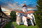 Prejmer ( German: Tartlau) Fortified Church, one of the best preserved of its kind in Eastern Europe was built by the Teutonic Knights in 12 12. Brasov, Transylvania. UNESCO World Heritage Site
