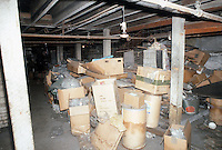 1986 February ..Rehabilitation.Attucks Theatre.Church Street..UNDER STAGE.INTERIOR...NEG#.NRHA#..