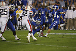 UK kicker Craig McIntosh kicks a field goal against Auburn at Commonwealth Stadium on Saturday, Oct. 9, 2010. Photo by Scott Hannigan | Staff