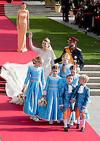 Crown Prince Guillaume of Luxembourg and Countess Stéphanie de Lannoy, Royal Religious wedding,