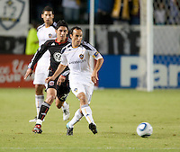 LA Galaxy midfielder Landon Donovan (10) passes the ball during the first half of the game between LA Galaxy and the D.C. United at the Home Depot Center in Carson, CA, on September 18, 2010. LA Galaxy 2, D.C. United 1.