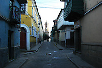 Toward the plaza in Potosi, Bolivia