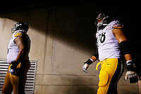 Alejandro Villanueva #78 of the Pittsburgh Steelers in action against the Cincinnati Bengals during the Wild Card playoff game at Paul Brown Stadium on January 9, 2016 in Cincinnati, Ohio. (Photo by Jared Wickerham/DKPittsburghSports)