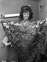 BURLESQUE STAR: PREFORMER/DANCER Blaze Starr backstage at the Follies Burlesque in San Francisco 1965. (photo/Ron Riesterer)