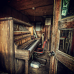Piano in old room