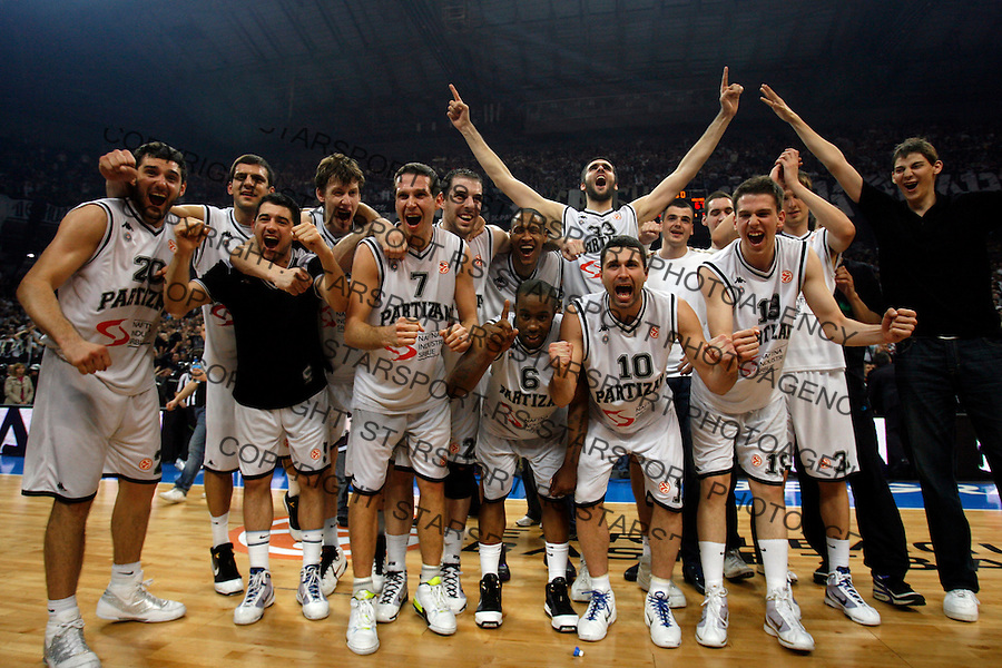 Sport Kosarka Evroliga Euroleague Partizan Beograd Srbija Maccabi Makabi Tel Aviv Israel Belgrade Arena 1.4.2010. credit image photo: Pedja Milosavljevic / STARSPORT / +381 64 1260 959 / thepedja@gmail.com